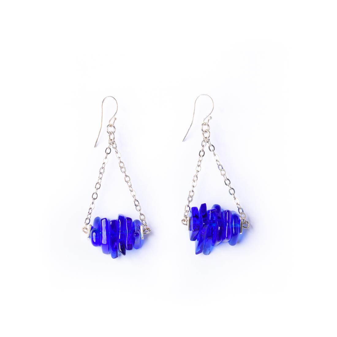 Μπλε σκουλαρίκια