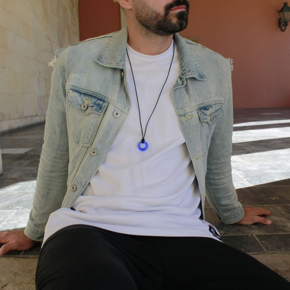 men's leather necklace