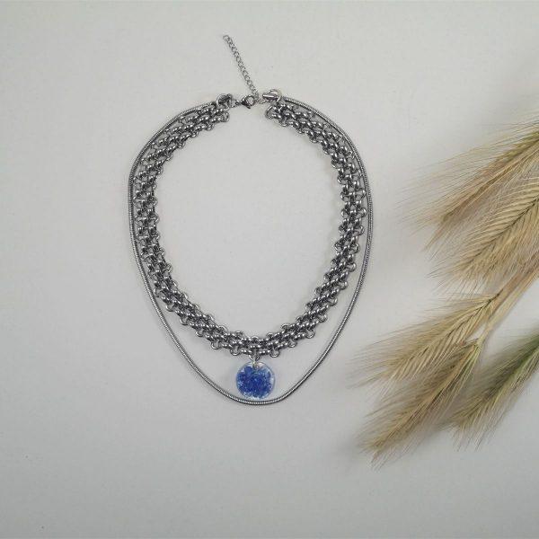 Glass Pendant Choker Necklace